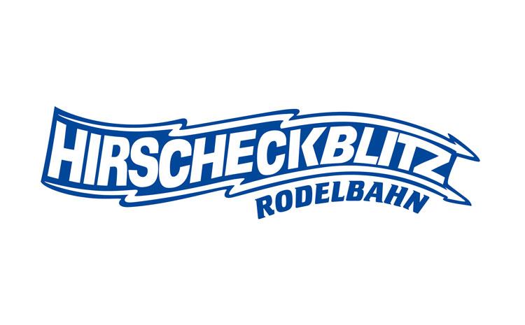 Hirscheckblitz Rodelbahn  Ramsau, Logo.