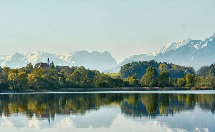 Abtsdofer See Rupertiwinkel Berge