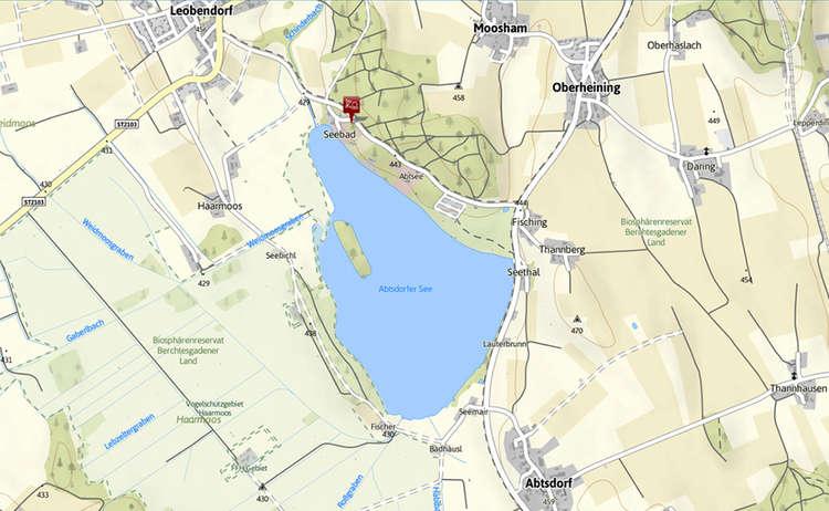 Abtsdorfer See Karte