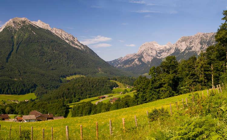 Blick Von Der Soleleitung Zu Hochkalter Und Reiter Alpe