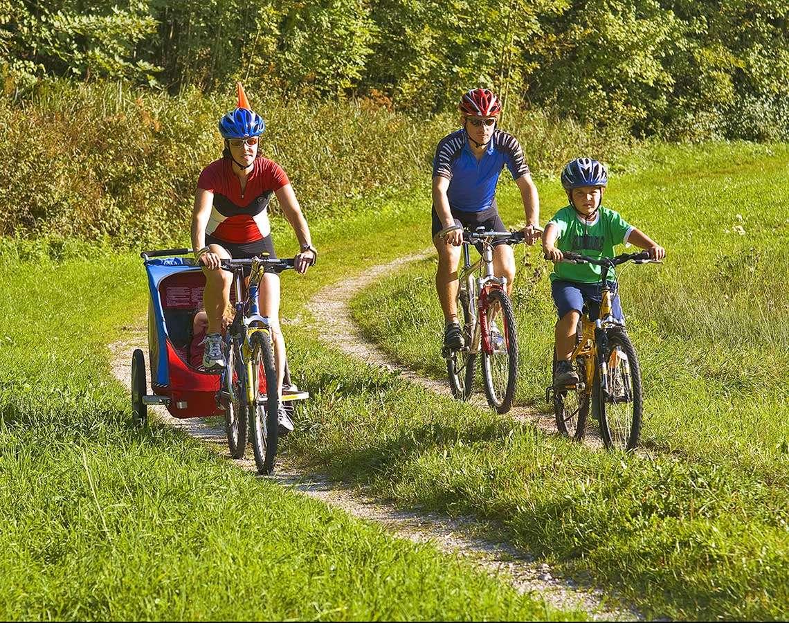 Familien Radfahren