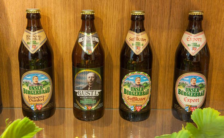 Heimatbrauer Bier Sortiment Buergerbraeu Bad Reichenhall