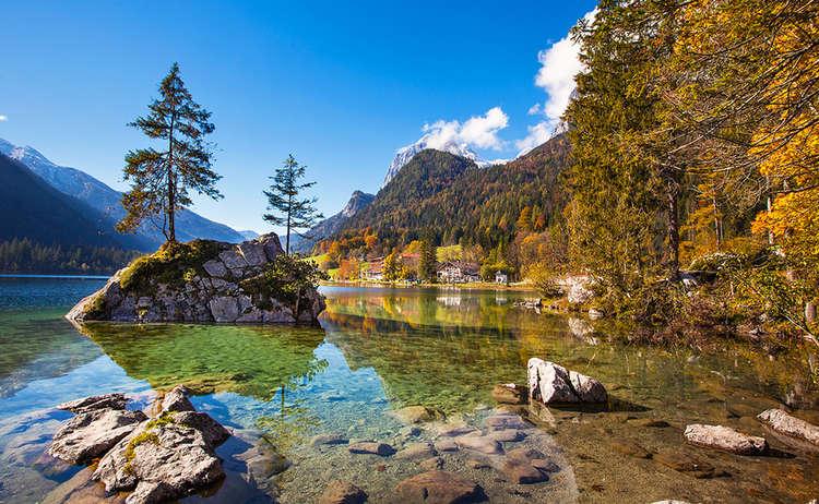 Hintersee Bergsteigerdorf Ramsau Herbst: http://www.berchtesgadener-land.com/info-service/ausflugsziele/seen-klammen/hintersee-bei-ramsau