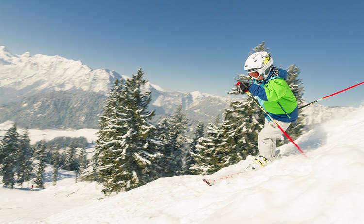 Hochschwarzeck Skifahren Kind