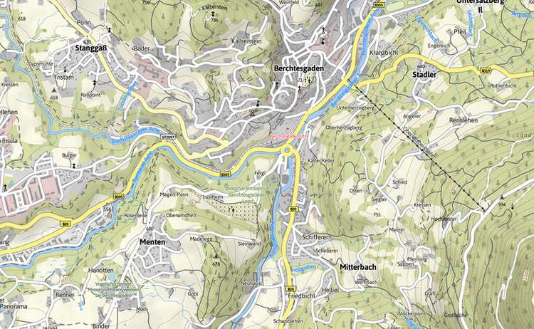 Karte Ache