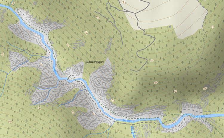 Karte Almbachklamm
