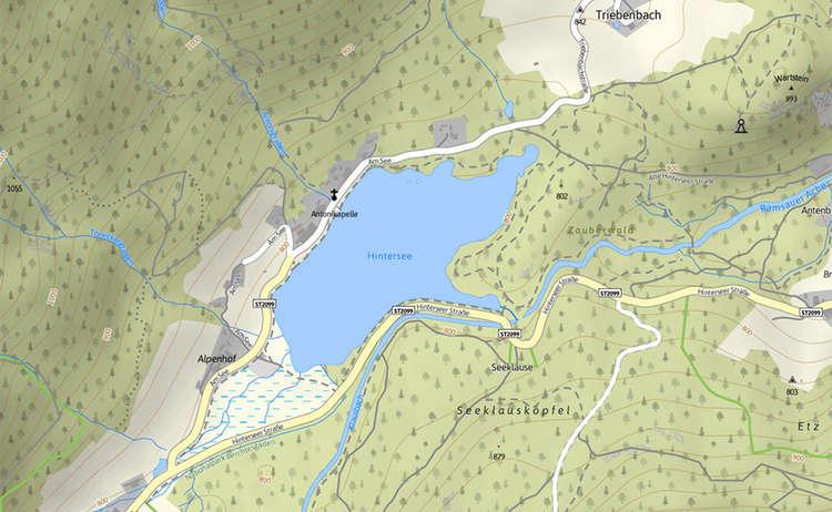 Karte Hintersee