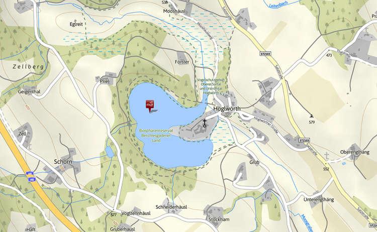 Karte Hoeglwoerther See