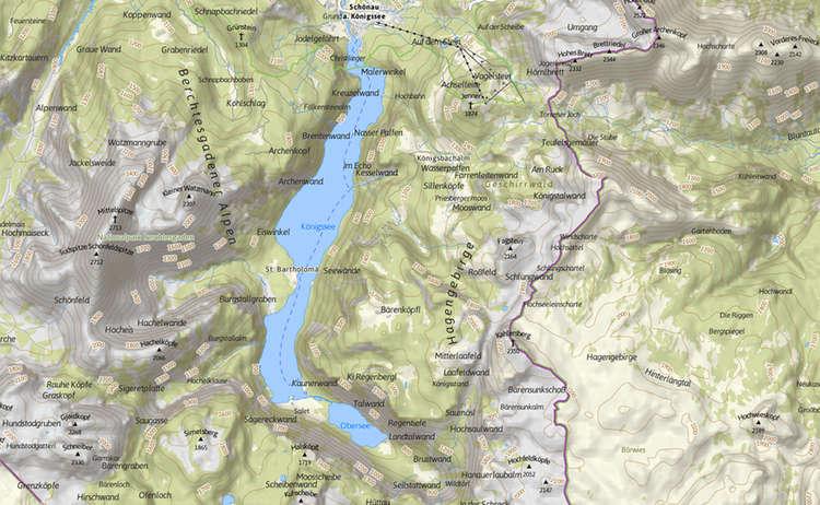 Karte Koenigssee