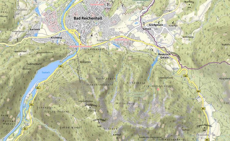 Karte Saalachsee