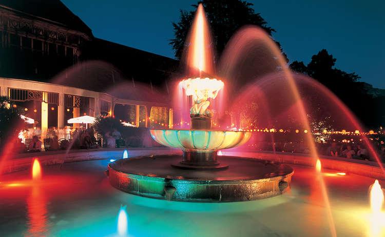 Kurgartenbeleuchtung Solebrunnen Bad Reichenhall