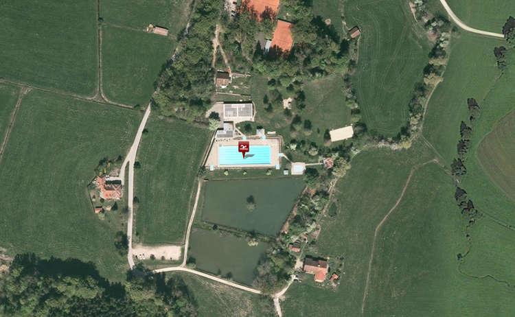 Luftaufnahme Freibad Teisendorf