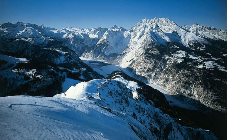 Nationalpark Berchtesgaden Koenigssee Winter