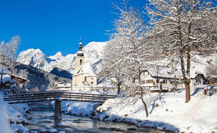 Ramsau Kirche Winter