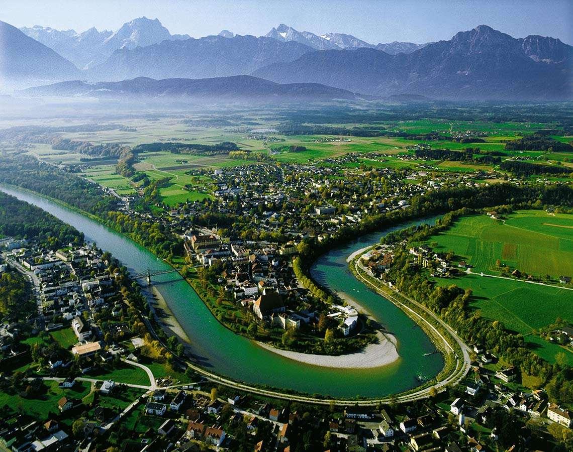 Salzachschleife Stadt Laufen