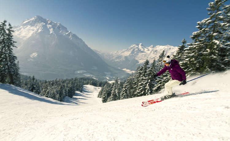 Skifahrerrin Am Hochschwarzeck