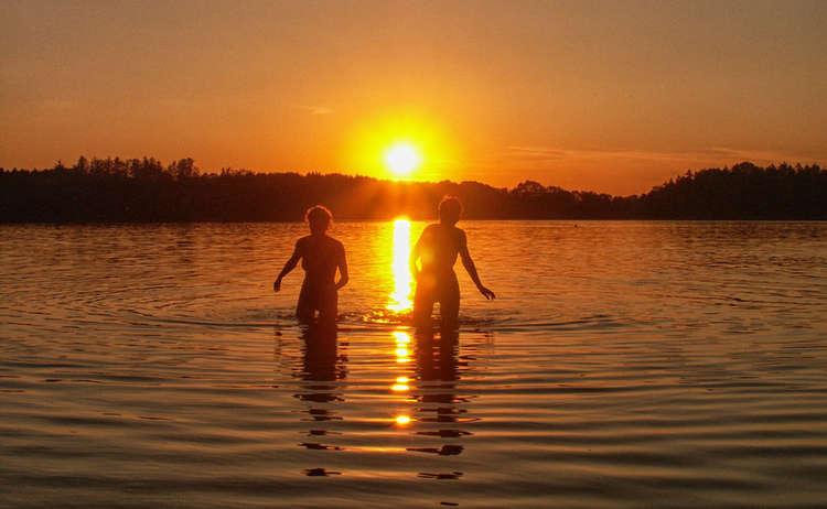 Sonnenuntergang Baden Abtsdorfer See