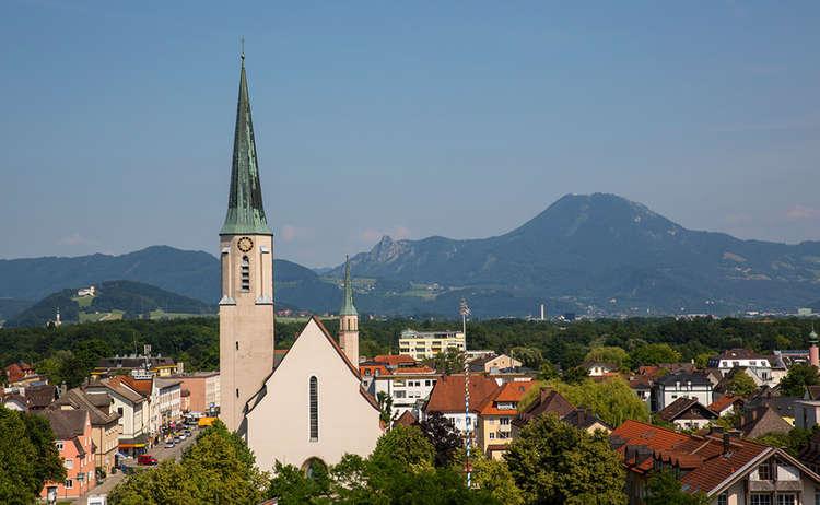 Stadt Freilassing Panorama