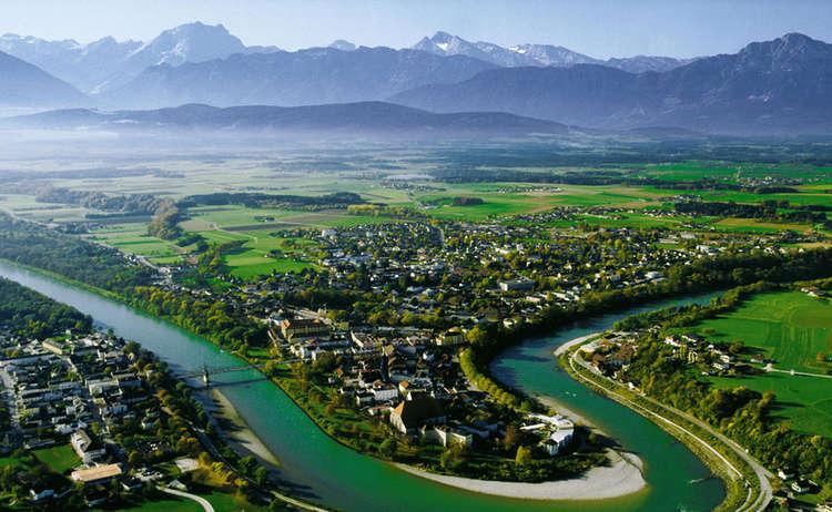 Stadt Laufen Salzachschleife