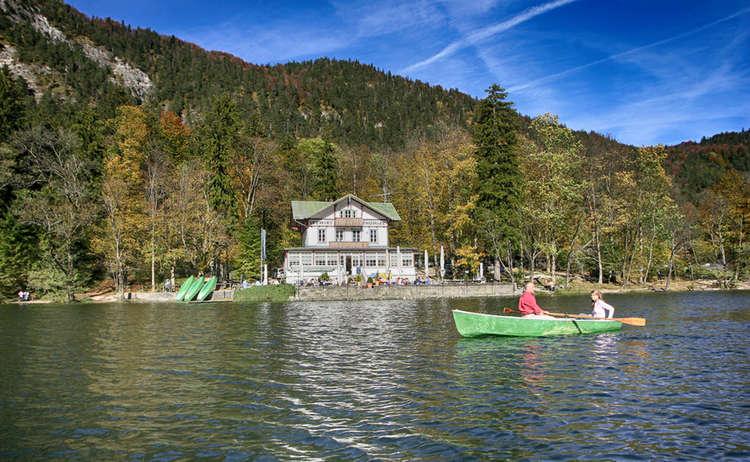 Thumsee Alpenstadt Bad Reichenhall Ruderboot
