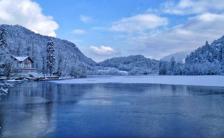 Thumssee Alpenstadt Reichenhall Winter