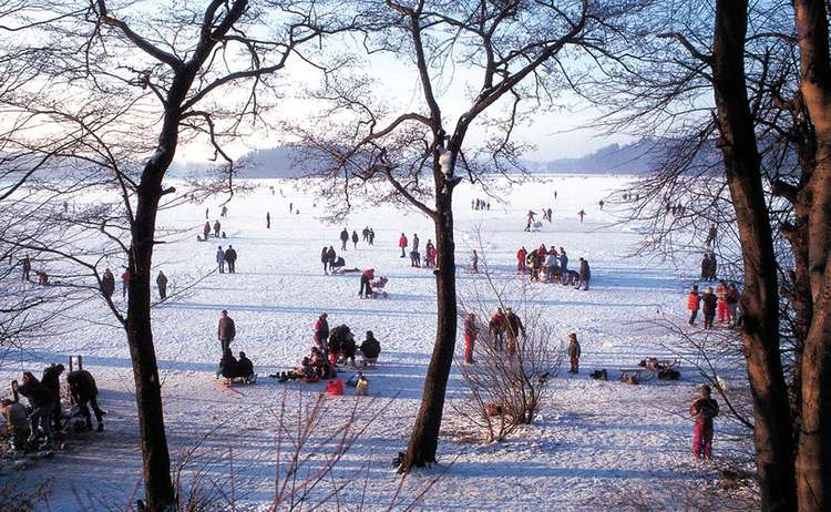 Winter Auf Dem Abtsdorfer See