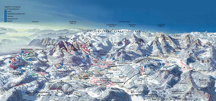 Winter-Panorama Skigebiete-Seite