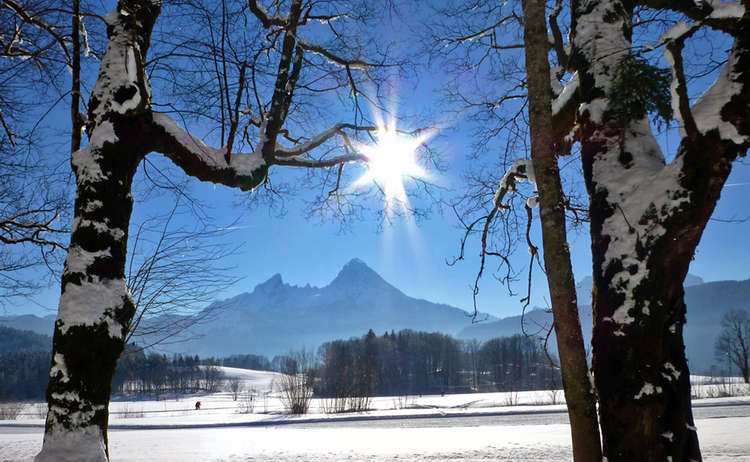 Winter Wanderung Am Maximilian Reitweg Bischofswiesen Franz Heger
