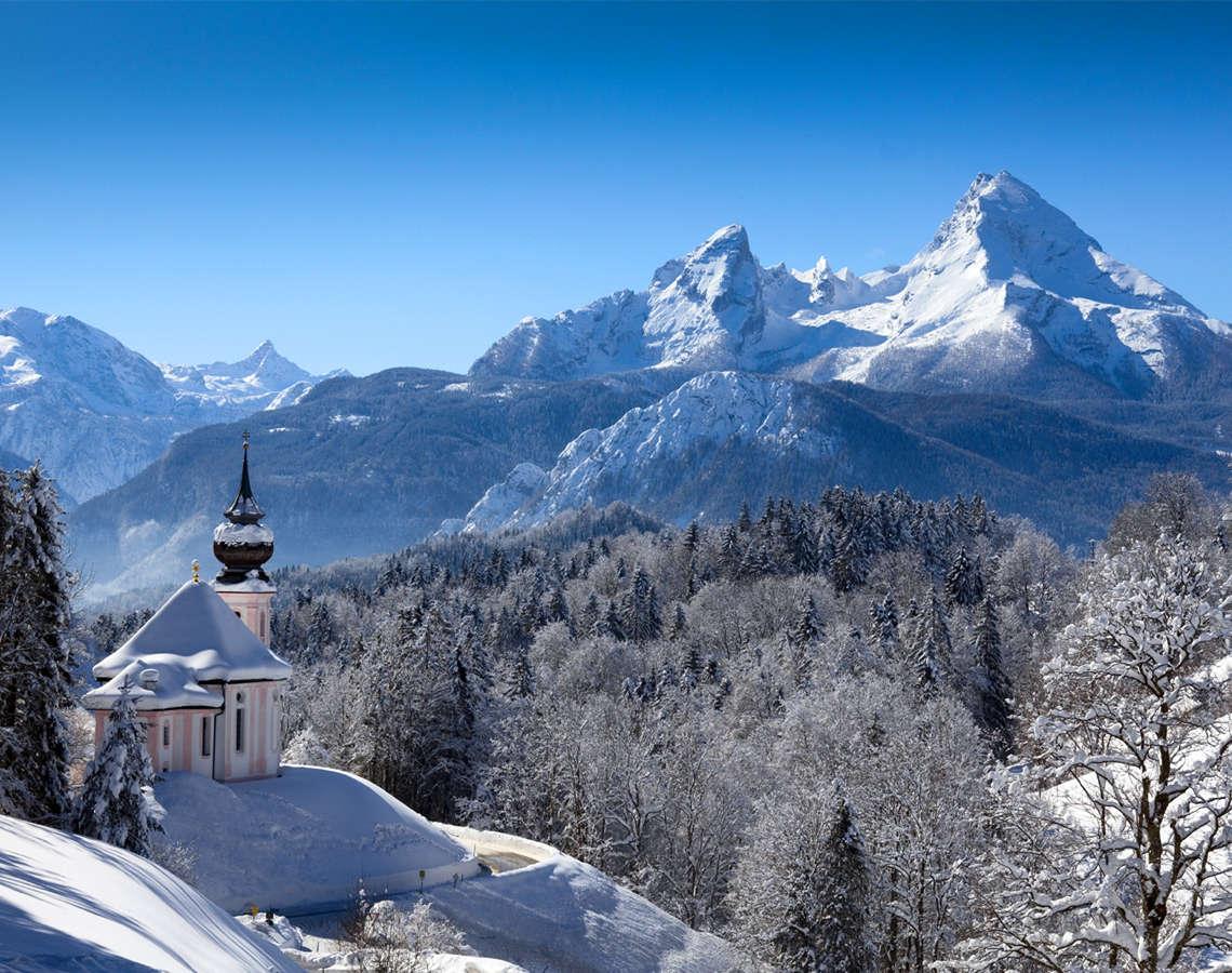 Winter Watzmann Maria Gern