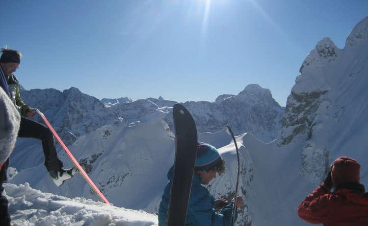 Winterlicher Gipfelsturm