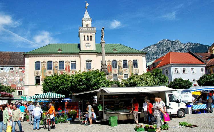Wochenmarkt Bad Reichenhall Alpenstadt